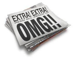 Newspaper with Oh My God headline
